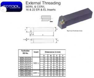 CEL 2525M22 External Threading Toolholder